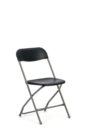 Chair Plastic Folding Charcoal Grey A Amp B Partytime Rentals