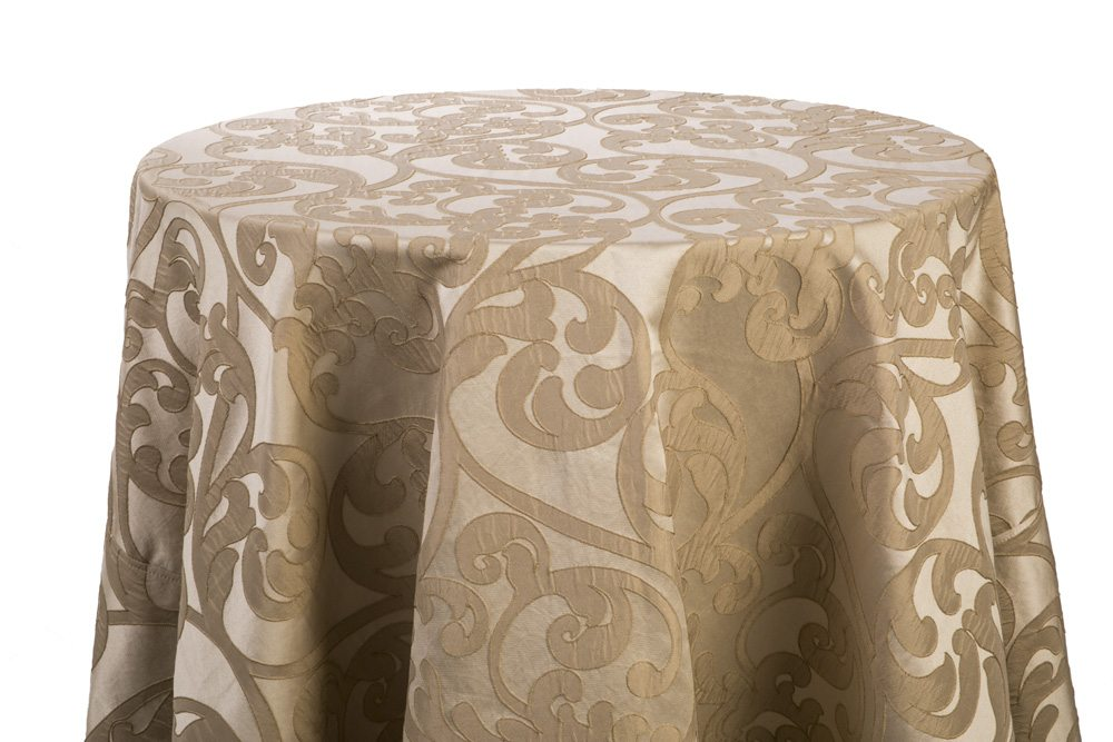 Taupe/Gold Damask