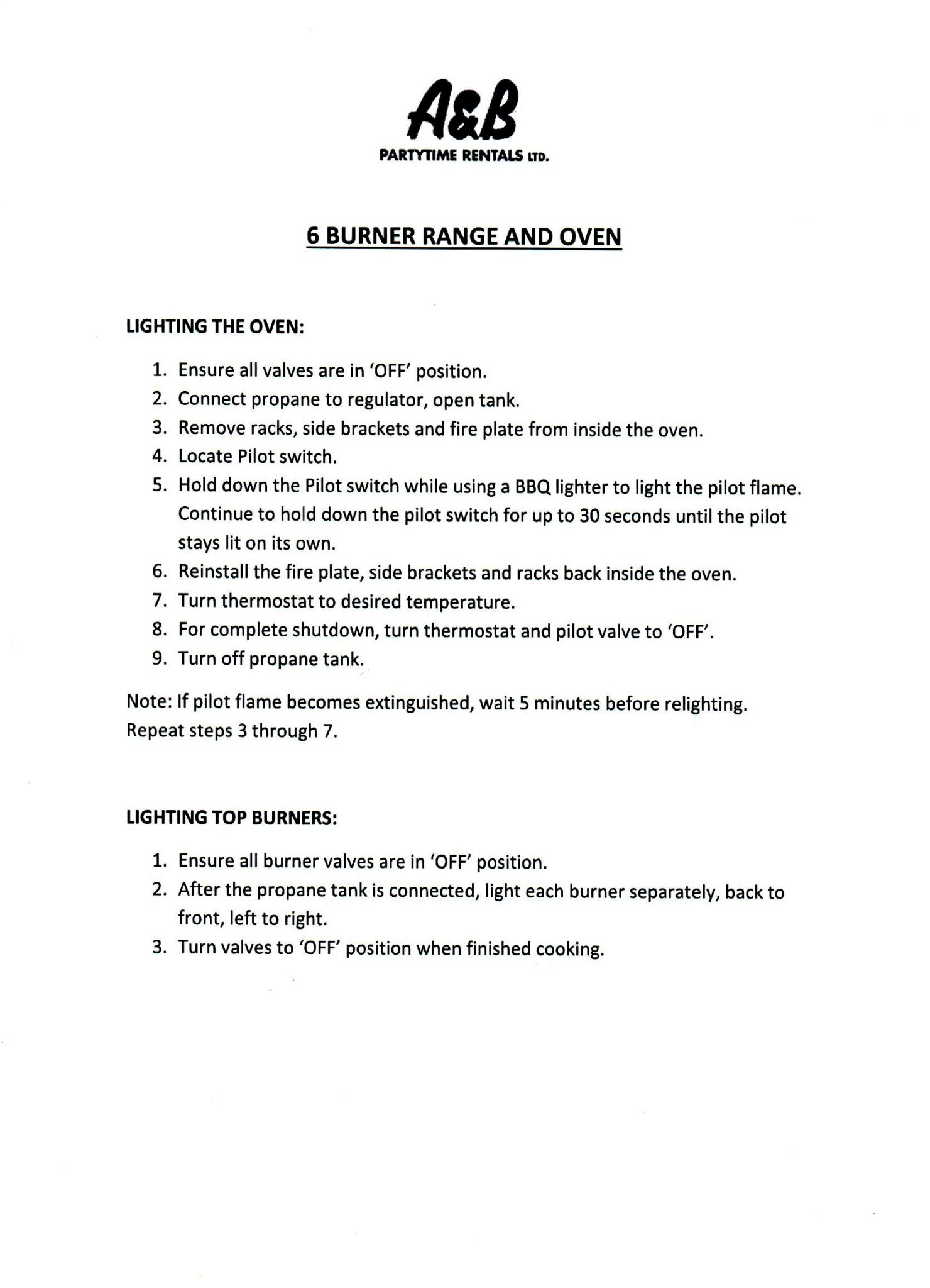 coolabah 6 burner bbq instructions