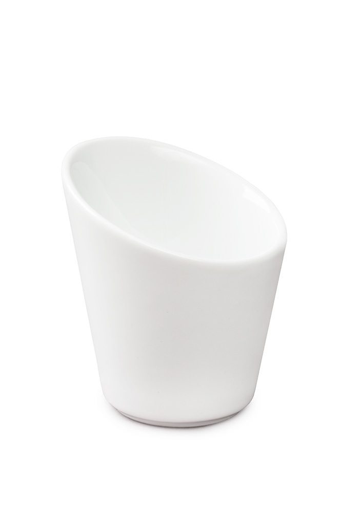 Porcelain Tall Slanted Cup